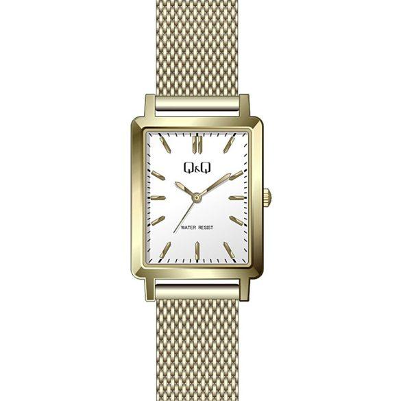 Q&Q női fémcsatos karóra, quartz, arany színű tok és csat, ezüst színű számlap, QB95J011Y