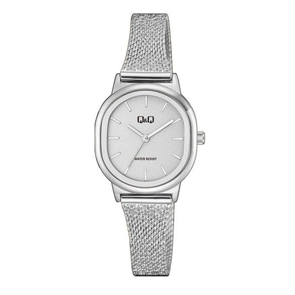 Q&Q női fémcsatos karóra, quartz, ezüst színű tok és csat, fehér számlap, QC37J201Y