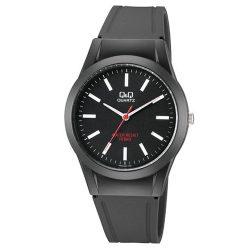 Q&Q férfi műanyag szíjas karóra, fekete színű tok és szíj, fekete színű számlap, VQ50J026Y