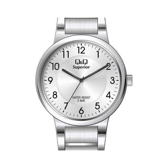Q&Q Superior női fémcsatos karóra, quartz, ezüst színű tok és csat, ezüst színű számlap, S283J204Y