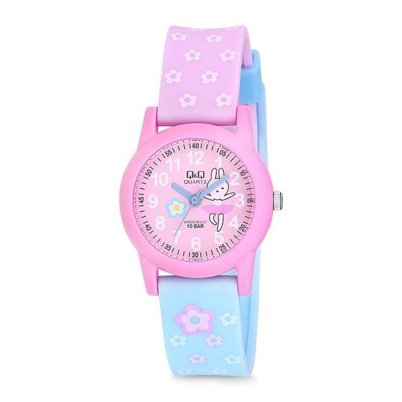 Q&Q gyerekóra, quartz, műanyag, lila és rózsaszín színű, VR99J805Y