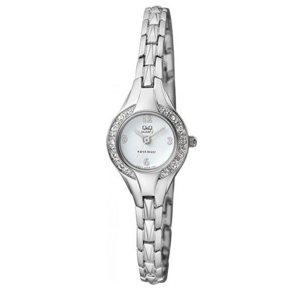 Q&Q női ékszeróra, quartz, ezüst színű tok és csat, fehér számlap, F621J204Y