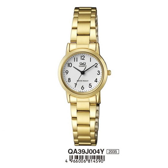 Q&Q női fémcsatos karóra, quartz, arany színű, QA39J004Y