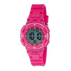 Q&Q női karóra, quartz, LCD / digitális, rózsaszínű szíj, rózsaszínű tok,  M149J006Y