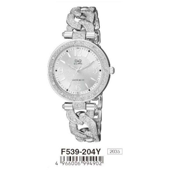 Q&Q női ékszeróra,quartz,ezüst színű, F539-204Y