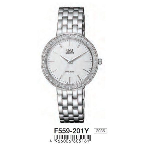 Q&Q női fémcsatos karóra,quartz,ezüst színű, F559-201Y