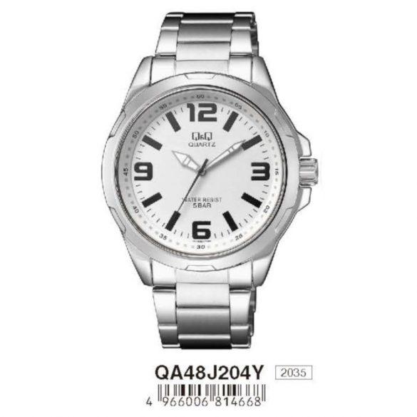 Q&Q férfi fémcsatos karóra, quartz, ezüst színű, QA48J204Y