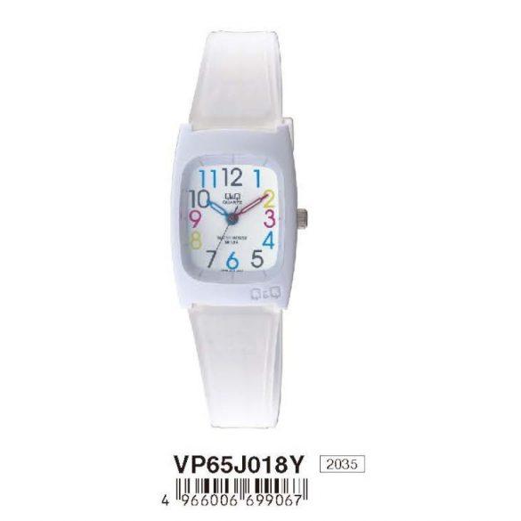 Q&Q női műanyag karóra, quartz, fehér színű, VP65J018Y