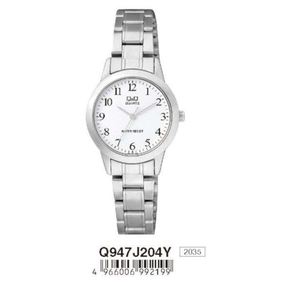 Q&Q női fémcsatos karóra, quartz, ezüst színű, Q947J204Y