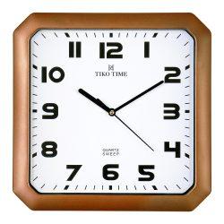 Tiko Time falióra, quartz, bordó színű tok, fehér színű számlap, sweep