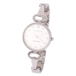 ASTRON 8005-7 divatos női karóra, ezüst színű nemesacél tok, ezüst színű nemesacél csat, ezüst színű számlap, zafírüveg, quartz szerkezet, cseppmentes vízállóság