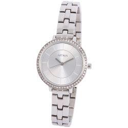 ASTRON 8009-7 divatos női karóra, ezüst színű nemesacél tok, ezüst színű nemesacél csat, ezüst színű számlap, keményített ásványüveg, quartz szerkezet, cseppmentes vízállóság