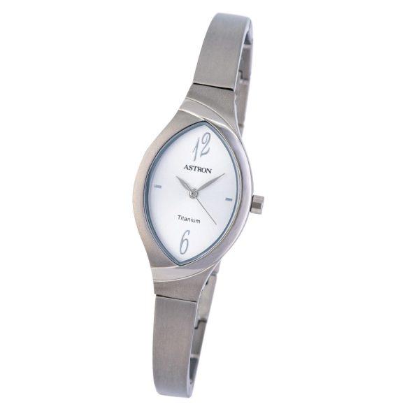 ASTRON 8024-8 női karóra, ékszeróra, ezüst színű titánium tok, ezüst színű titánium csat, ezüst színű számlap, keményített ásványüveg, quartz szerkezet, cseppmentes vízállóság
