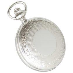 Astron férfi zsebóra, quartz, ezüst színű tok (mintázott), arab számos, 50 mm